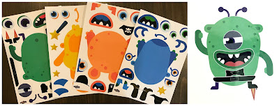 monster sticker activity, monster storytime craft, monster storytime