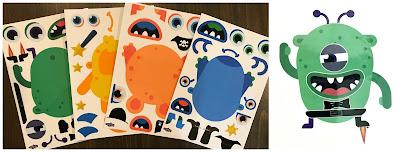 monster sticker activity, monster storytime craft, monster storytime