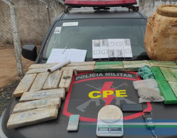 Luziânia: Traficantes são presos com drogas e mercadorias contrabandeadas