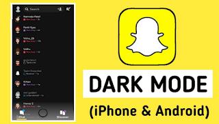 Cara mendapatkan mode gelap di Snapchat kurang 1 menit