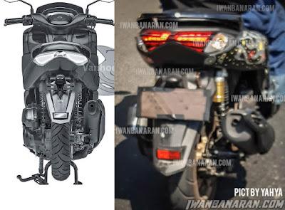 Spyshot Terbaru New Yamaha NMax Bandingkan dengan Patent-nya