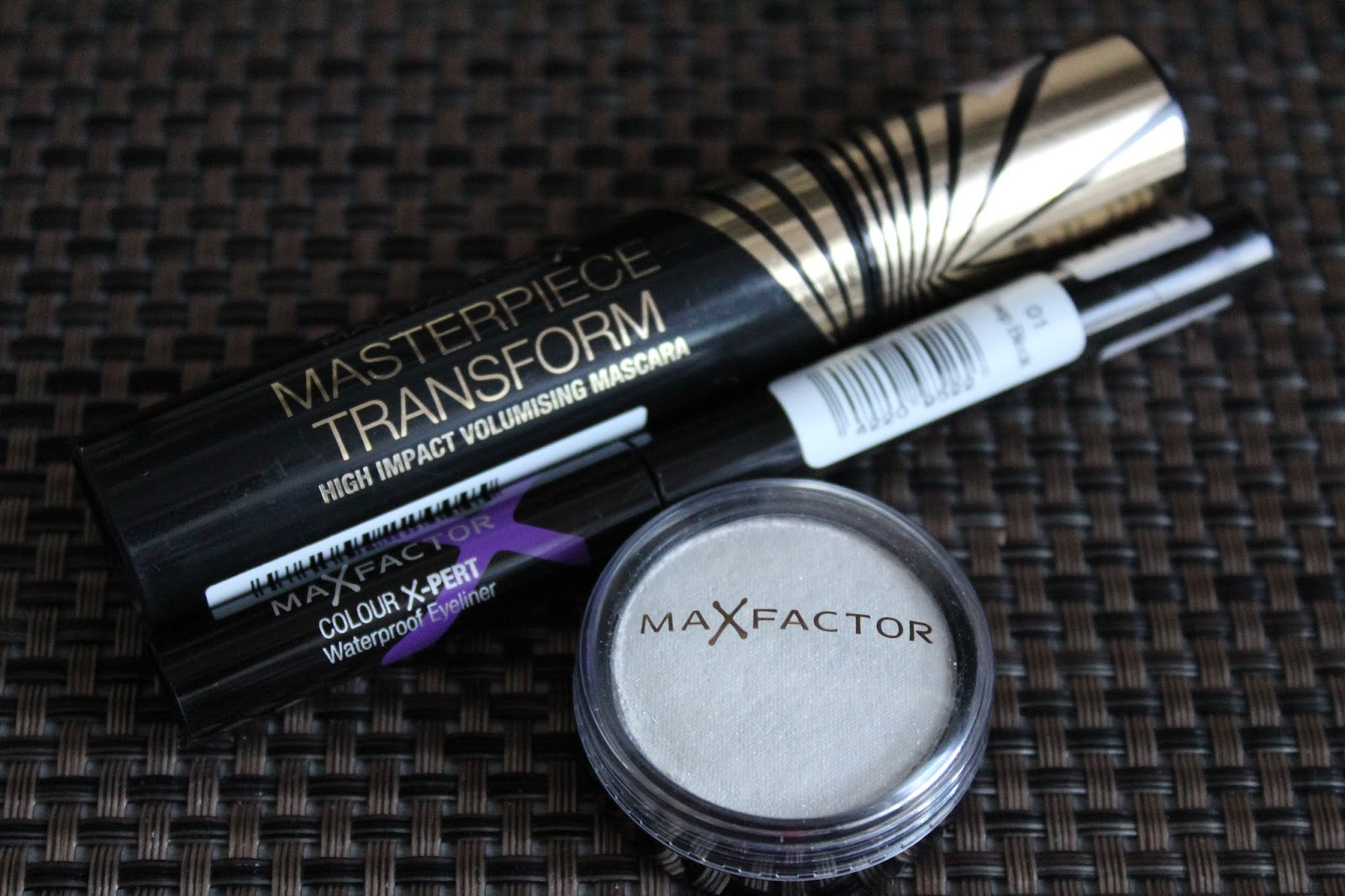 Max Factor Masterpiece Transform maskara, Colour X-pert eyeliner i mono sjenilo