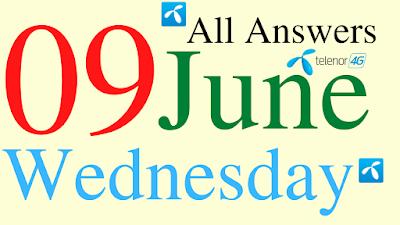 Telenor Quiz Today | 09 June 2021 | My Telenor App Today Questions and Answers | Test your Skills
