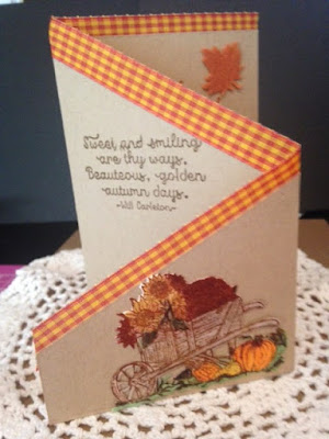 ODBD Seasons Change, ODBD Custom Wheelbarrow Die, ODBD Z Fold Cards, ODBD Customer Card of the Day by Dottie Seubert
