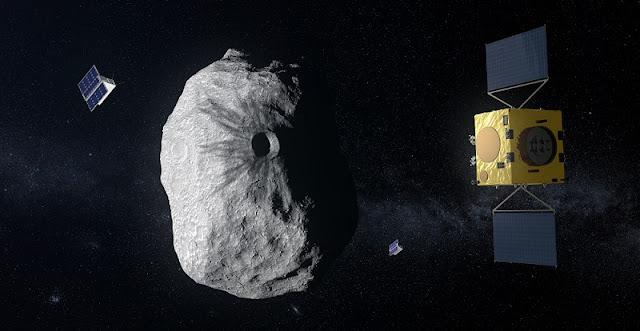 Hera at Didymos. Credit: ESA–ScienceOffice.org
