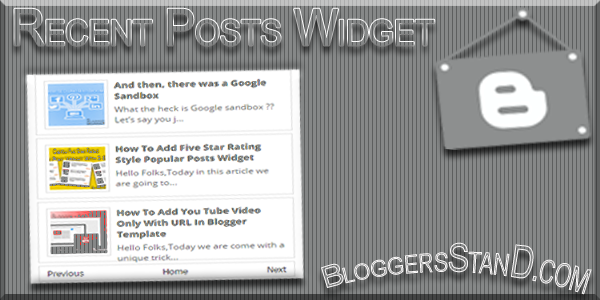 How To Add Recent Posts Widget With Next & Previous Button