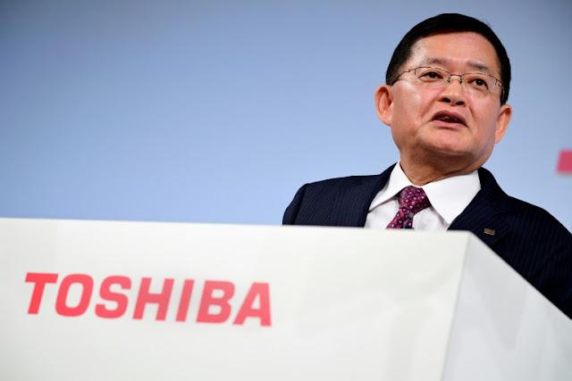 CEO of Toshiba, Nobuaki Kurumatani