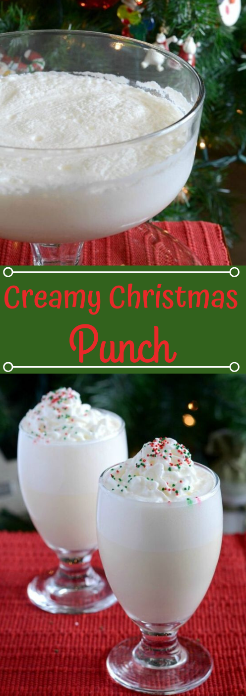 CREAMY WHITE CHRISTMAS PUNCH #drink #easy #recipes #sangria #cocktail