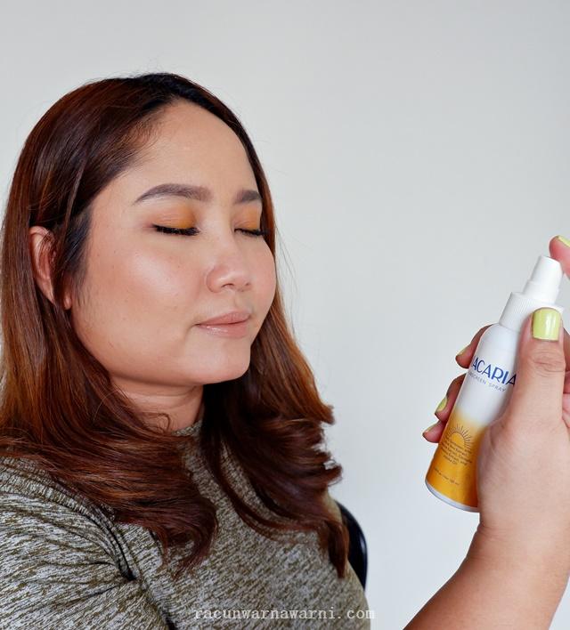 Cara Menggunakan Macaria Sunscreen Spray