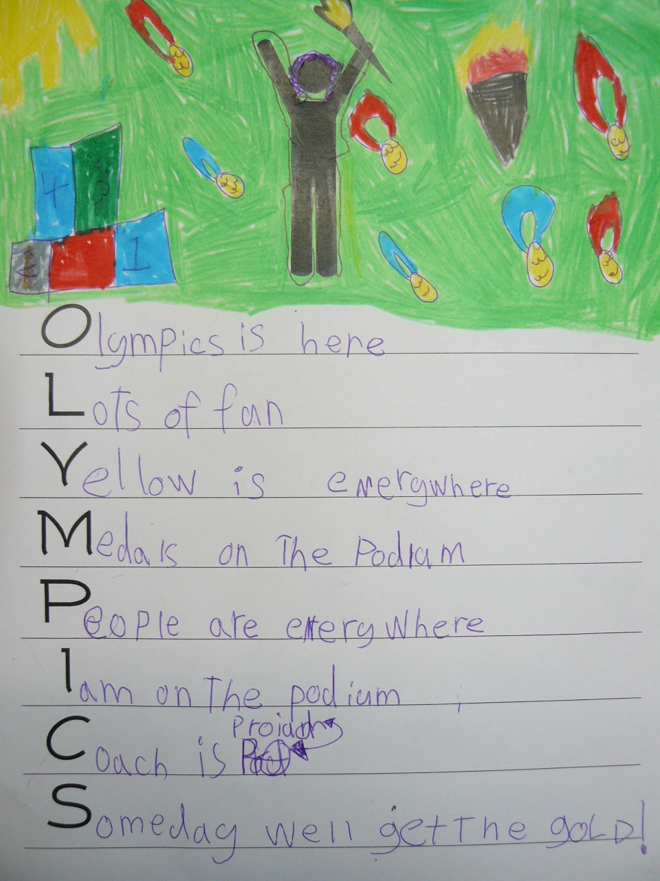 Please write a rhyming acrostic poem using the word OLYMPICS...?