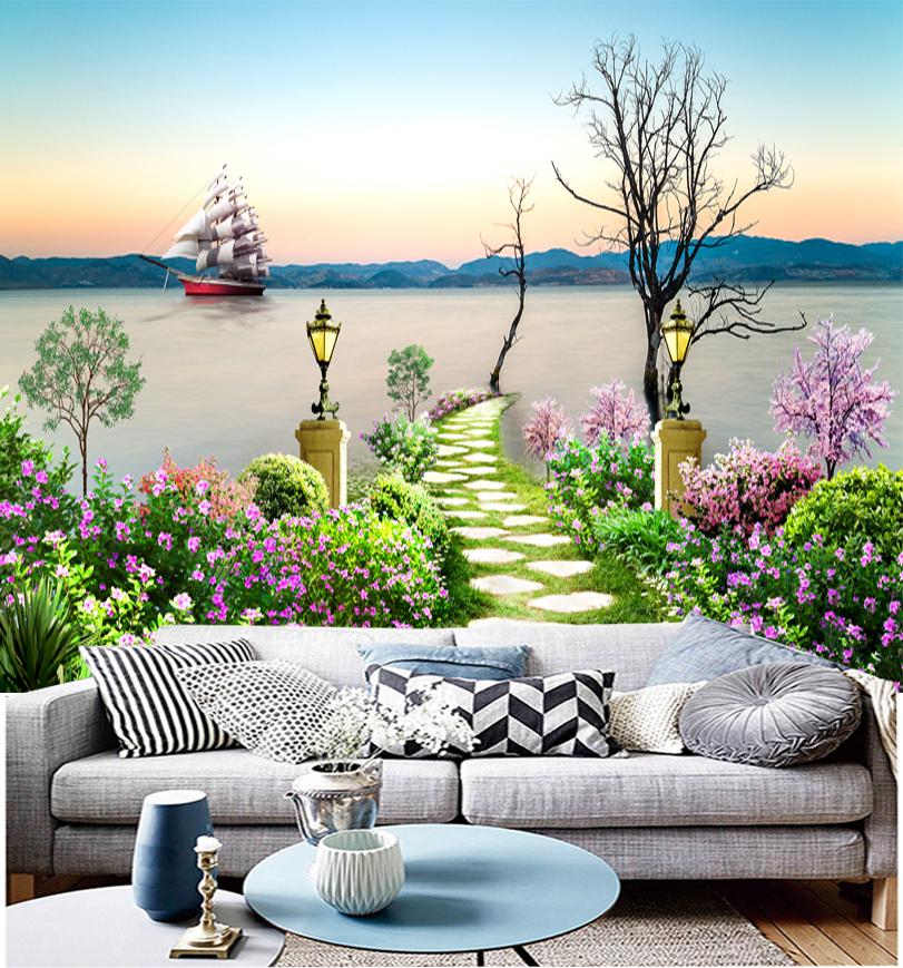 Tranh Vườn Hoa phong cảnh