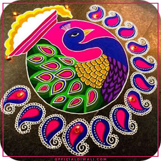 Special Rangoli Design for Diwali