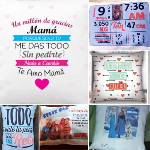 almohadones personalizados con fotos