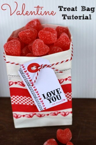 Valentine Treat Bag Tutorial #Valentine #PaperCrafts