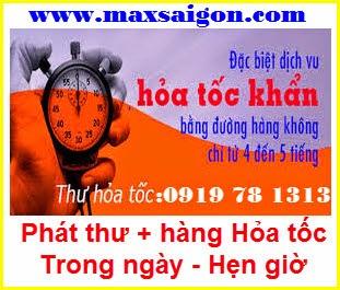 dịch vụ phát hàng hỏa tốc trong ngày Maxsaigon