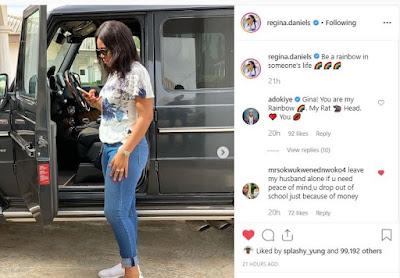 Mrs Okwukwened Nwoko Calls Regina Daniels Out To Free His Husband