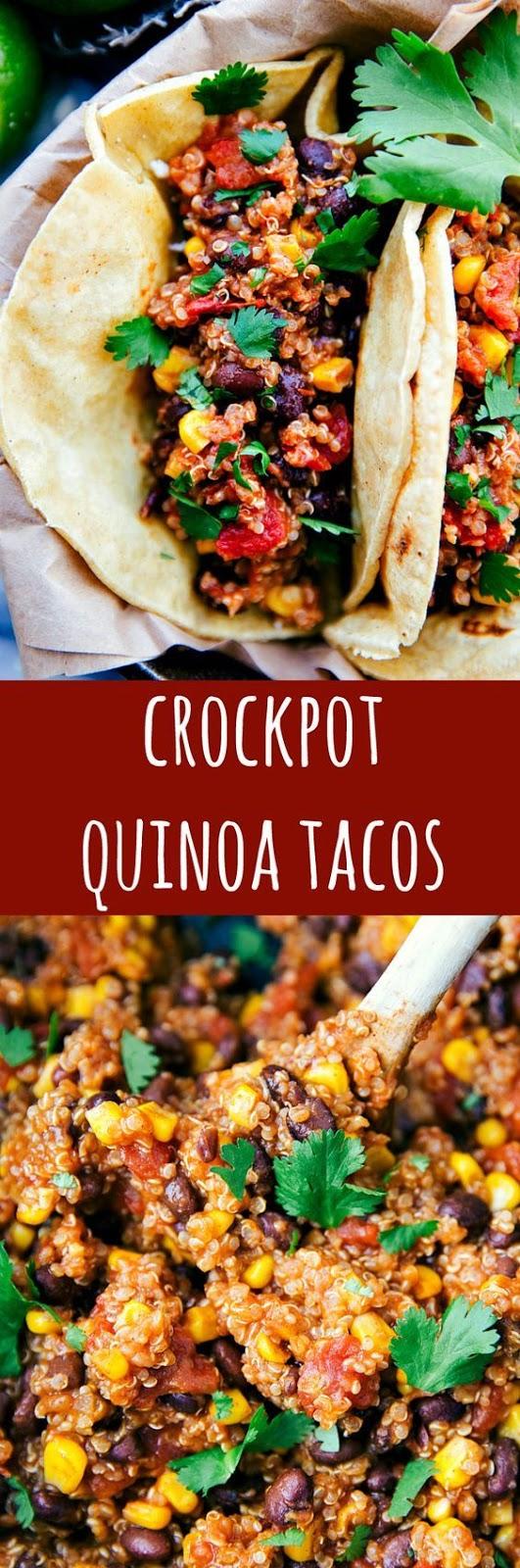 Crockpot Mexican Quinoa Tacos