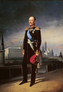 Portrait of Russian Emperor Nicholas I, painting by Egor Ivanovich Botman