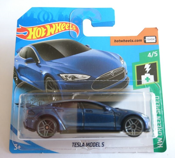 Diecast Collection: Tesla Model S (HW Green Speed