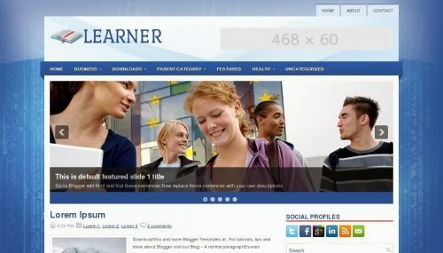 learner blogger template 2014,free download,free blogspot template Download,education template