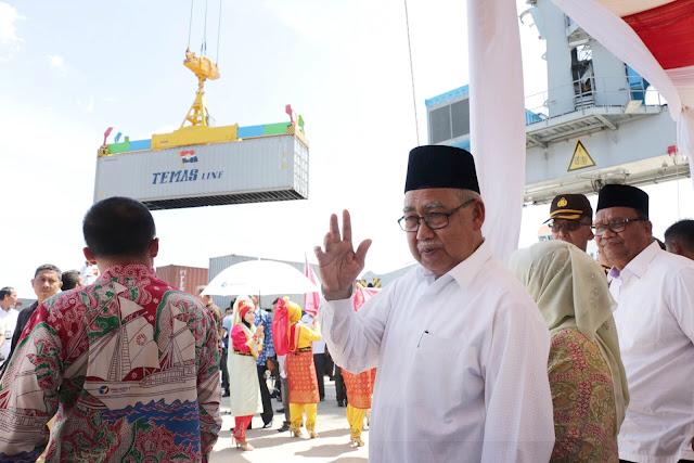 Pelayaran Petikemas Mulai Dibuka, Aceh Terkoneksi Jaringan Tol Laut