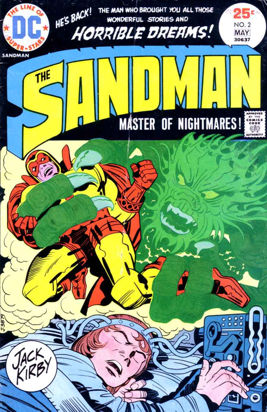 The Sandman v1 #2 dc bronze age comic book cover art by Jack Kirby