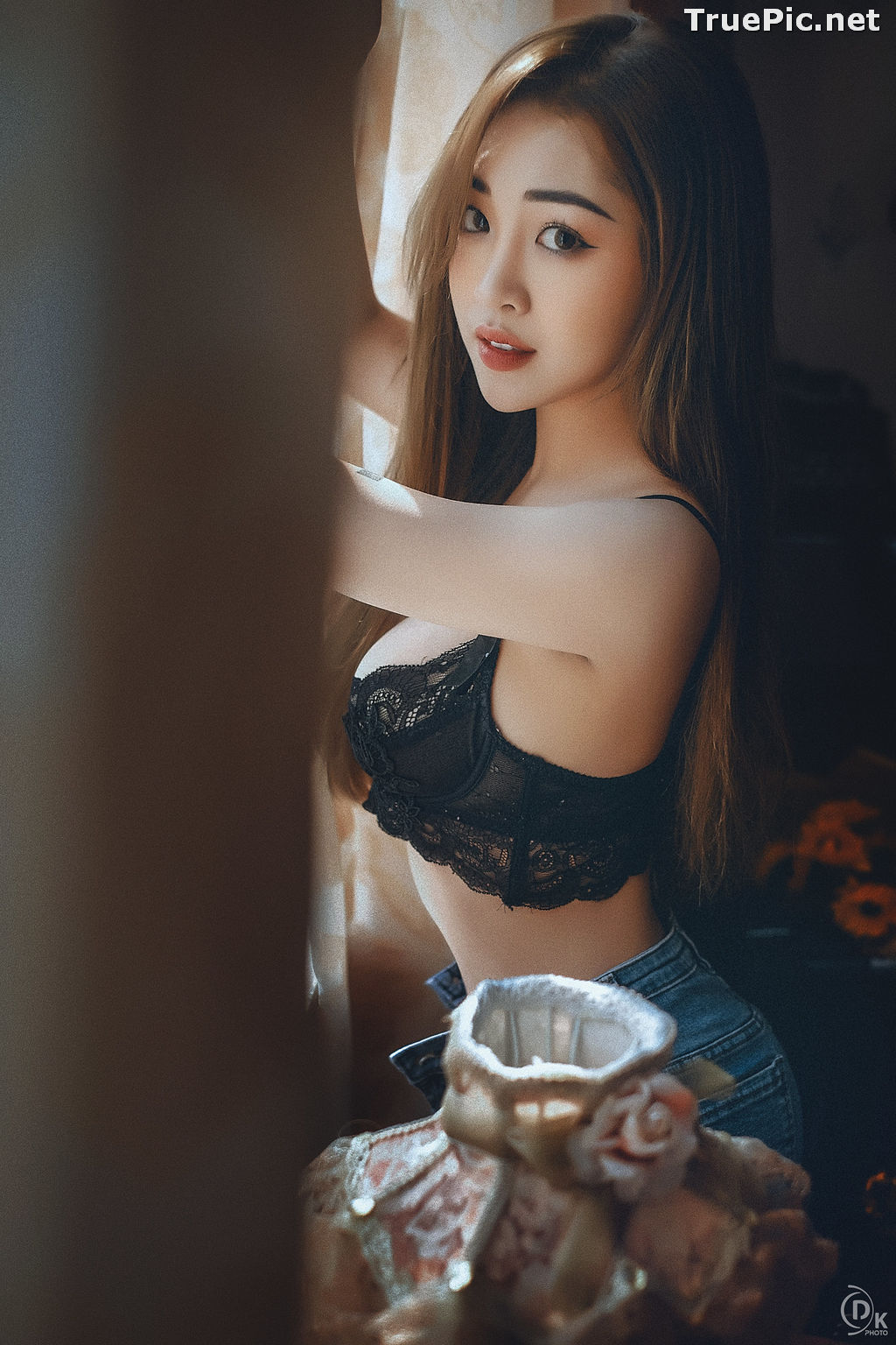 Image Vietnamese Model - Sexy Angel In Black Lingerie and Jean - TruePic.net - Picture-10