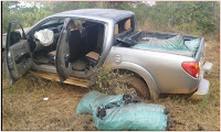 SHOCK on NGILU as Kitui County Government vehicle is involved in an accident while transporting charcoal to Nairobi (PHOTOs)