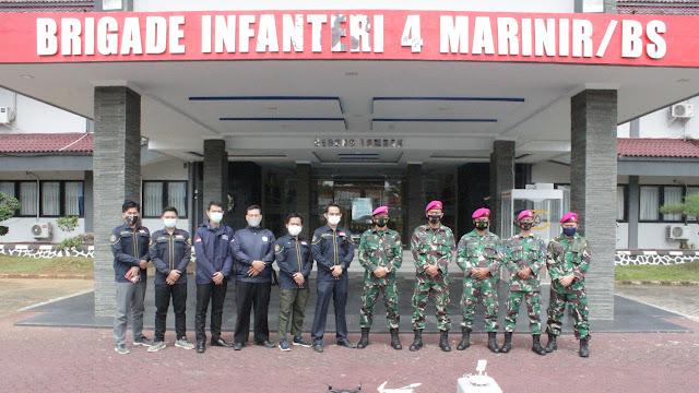 Tingkatkan Pengetahuan Prajurit di Bidang IT Brigif 4 Mar/BS Undang Lima Dosen Universitas Teknokrat Indonesia