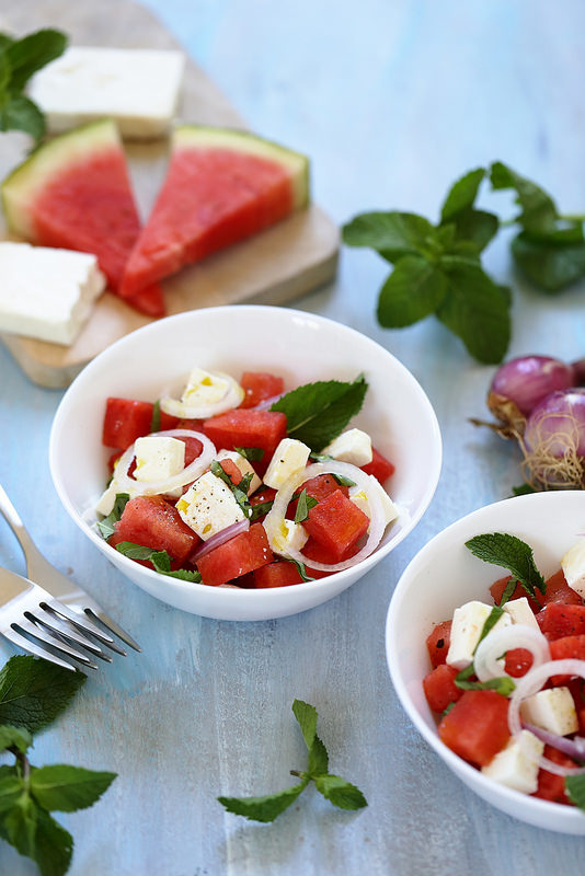 Salade de pastèque et feta