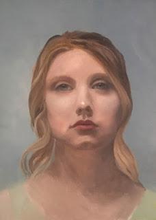 oil painting portrait, village arts of putney