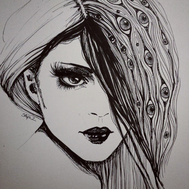 12-Ink-lined-Steph-Diaz-Zahalka-A-Compilation-of-Different-Portrait-Style-Drawings-www-designstack-co
