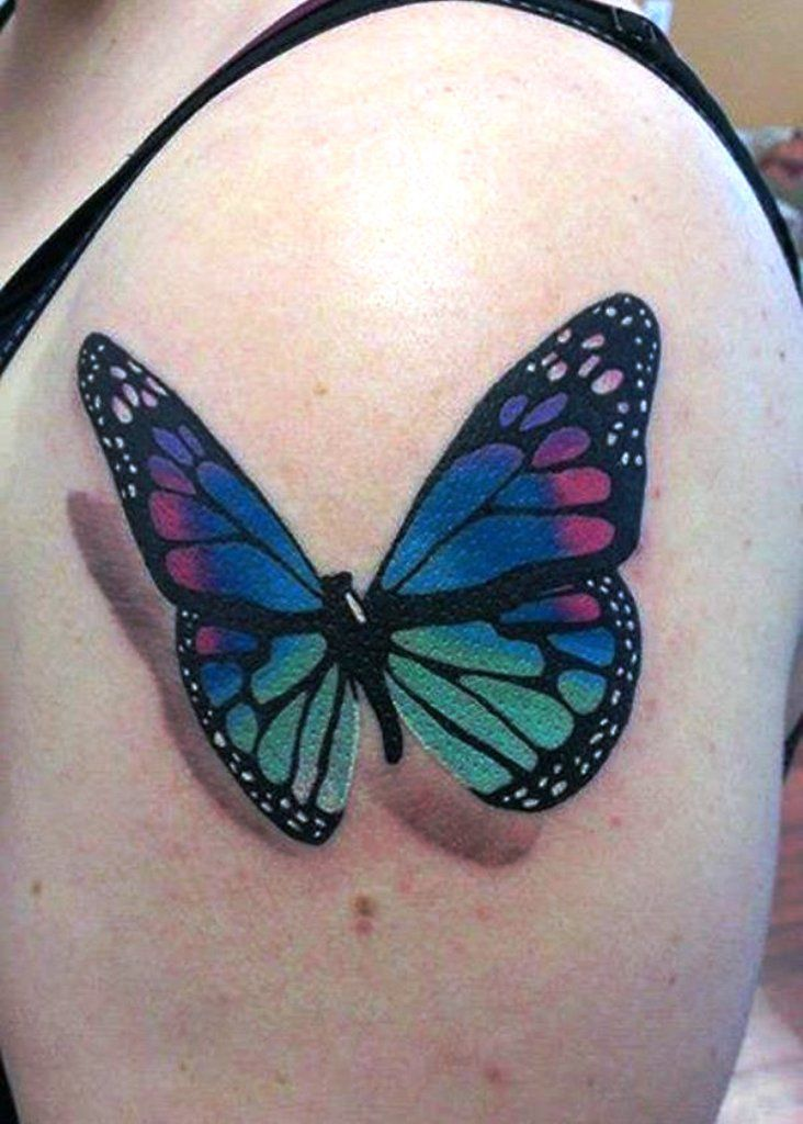 mytattoolandcom 3d butterfly tattoos