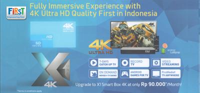 First Media Ultra HD X1 4K | FIRST MEDIA