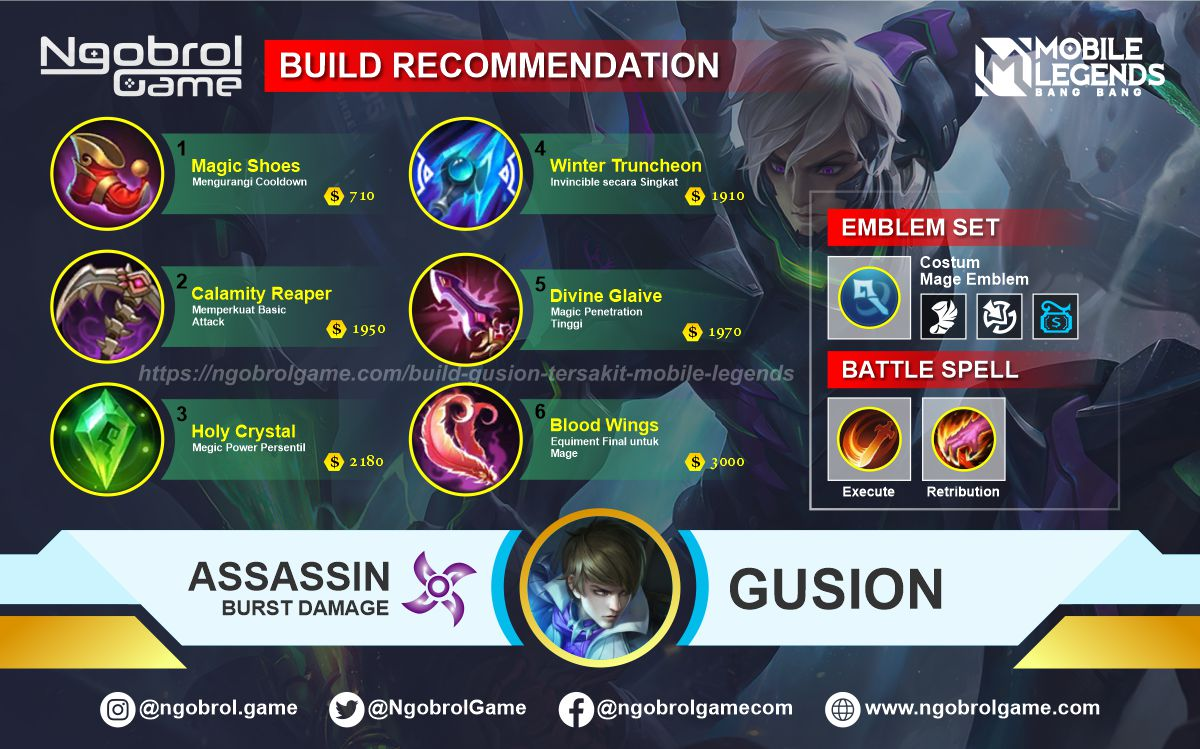 Build Gusion Savage Mobile Legends