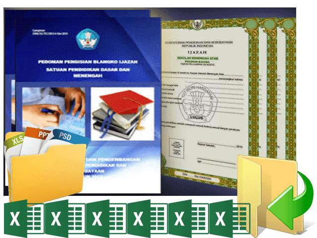 Download Juknis Penulisan dan Blanko Ijazah SD, SMP, SMA, SMK dan Paket A,B,C