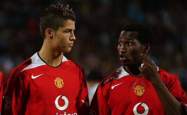 Eric Djemba Djemba, Christiano Ronaldo, Manchester United