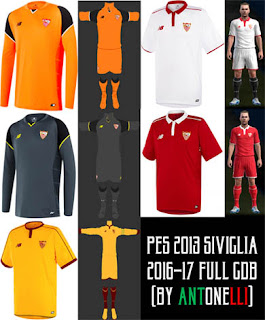 PES 2013 Sevilla Kits 2016-17 By Antonelli