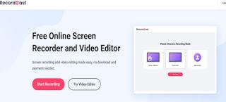 تطبيق RecordCast تسجيل شاشة الكمبيوتر على الانترنت