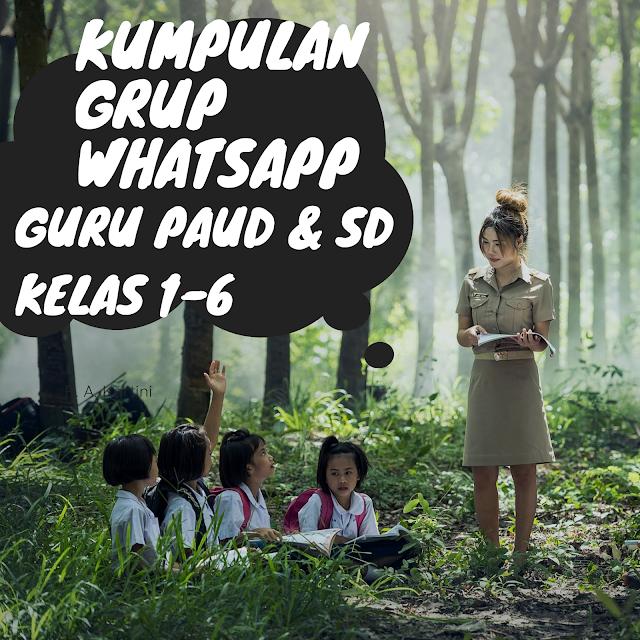 Grup WA WhatsApp Guru PAUD dan SD