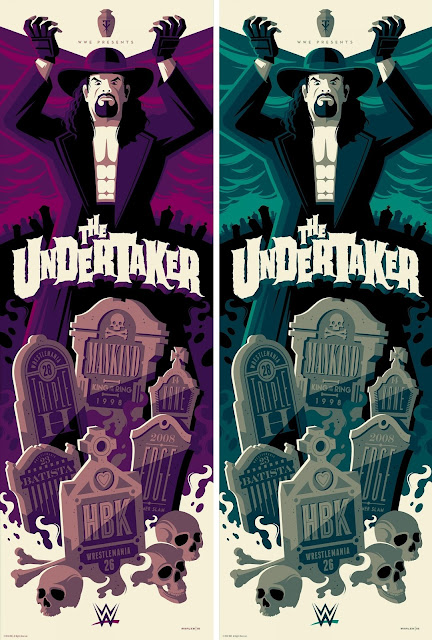 WWE RAW 25th Anniversary Screen Print Series – The Undertaker by Tom Whalen x Gallery 1988