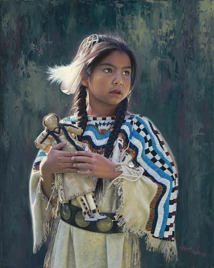 Картины об индейцах. Karen Noles 7