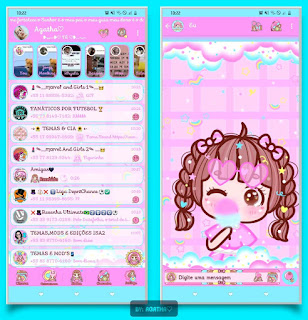Baby Girl Theme For YOWhatsApp & KM WhatsApp By Agatha