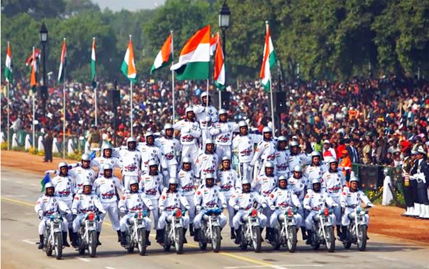 Bike stunt rally on republic day