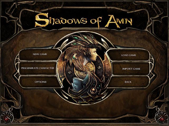 Baldur's Gate 2 Shadows of Amn Enhanced Edition menu screen