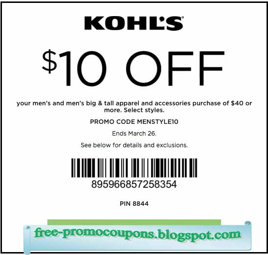 Kohl discount coupon
