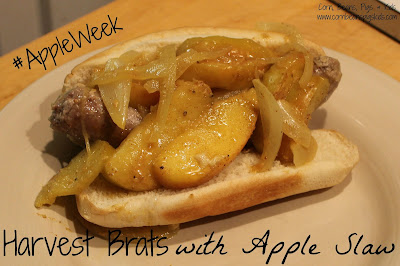 #AppleWeek - Harvest Brats with Apple Slaw