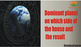Dominant planet on which side of the house and the result