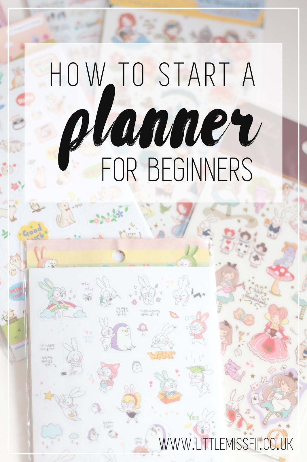 pinterest  how to start a planner for beginners