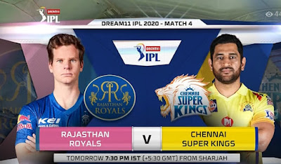 IPL 2020: Rajasthan Royals vs Chennai Super Kings 4th Match LIVE Streaming, RR is batting first